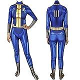 S.Y.MMYS Fallout 4 Vault Suit Cosplay Costume Zentai Bodysuit Suit Jumpsuits Halloween Costume Pretend (Size : M, Source : Women)