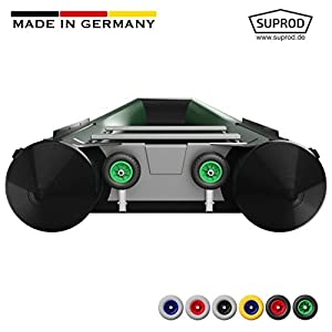 Ruedas de botadura SUPROD HD200, acero inoxidable A4 (C (negro/verde)) 4