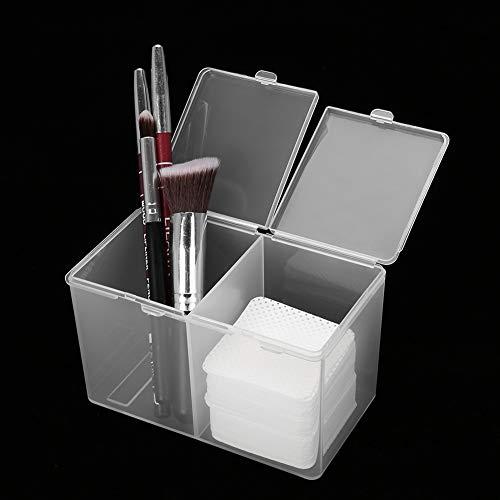 Boîte de rangement cosmétique, support de stockage, support de stockage transparent, conteneur de stockage de cosmétiques, stockage d'outils à ongles, 2 compartiments