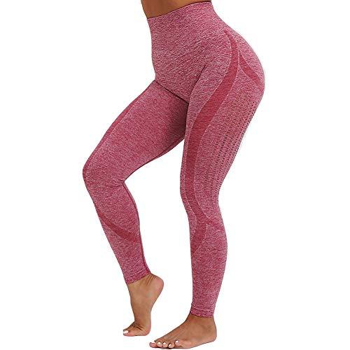 Metermall Fashion For Woman Seamless Fitness Yoga Pants Mesh High Waist Slim Sport Leggings Trousers