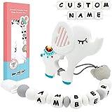 Panny & Mody - Clip para chupete o mordedor de silicona personalizado con nombre de bebé, diseño...