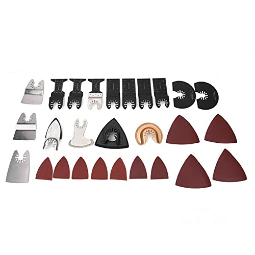 Kit de cuchillas de sierra oscilante de 70 piezas, accesorios de múltiples herramientas de cambio rápido para corte de madera y plástico, 34 mm / 44 mm / 51 mm / 64 mm / 78 mm / 80 mm