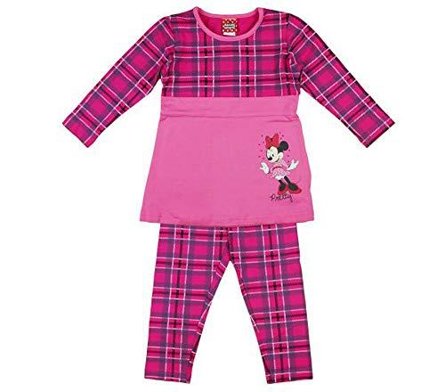 Disney Minnie Mouse Mädchen Set mit warme Leggings und Langarm Pulli Oberteil T-Shirt Outfit für Minnie Party in Größe 80 86 92 98 104 110 116 Farbe Modell 2, Größe 110