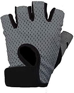 Outdoor gloves half point nylon sports supplies gym ride protection palm,Martian e-commerce (Color : Grey, Size : M)