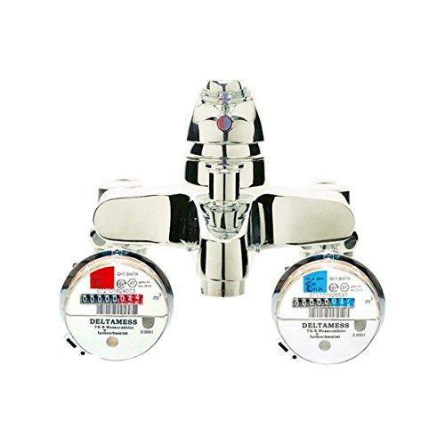 Deltamess 10050 Zähler Mischbatteriezähler TKS MBZ Funk-V 3/4 kalt Wasserzähler Wasseruhr Mischbatterie