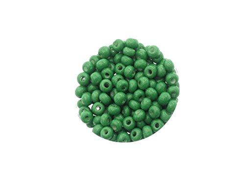 Creative-kralen rocailles, glasparels, Indiaanse parels, 4,5 mm (5/0) 14 g doosjes, ondoorzichtig, om sieraden, decoratie, armband zelf te maken of te knutselen. 14gr. 23 Grün