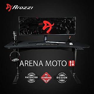 "Arozzi Arena Moto Motorized Ultrawide Curved Gaming/Office Desk, 63""x32"", Black (B08WRCG57R) | Amazon price tracker / tracking, Amazon price history charts, Amazon price watches, Amazon price drop alerts"