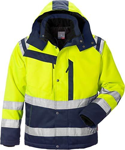 Fristads Kansas Workwear 119630 High Viz Winterjacke Hi-Vis Yellow/Navy Xs
