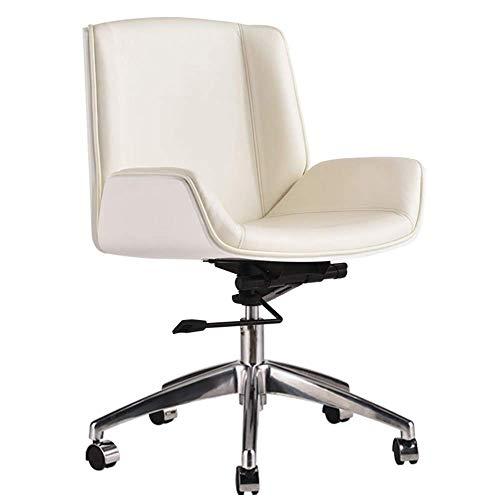 MJY Sofa Stool Brisk - Silla de oficina ejecutiva con, duradera y estable, ajustable en altura, ergonómica, giratoria de 360 ??grados k/Blanco