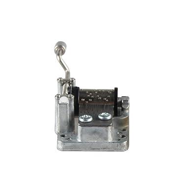 Mecanismo musical de manivela sin definir para manualidades, movimiento de caja de música, bonito regalo.