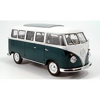 VW T1 Bus weiss grün Modellauto 452610400 Schuco 1:87