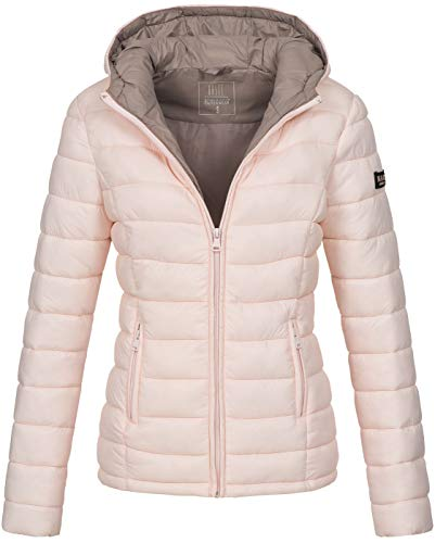 Marikoo Damen Jacke Steppjacke Übergangsjacke gesteppt B651 [B651-Luc-Rosa-Gr.L]