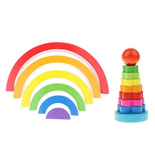 MagiDeal Colorido Bloque de Construcción Niños Bebé Habilidades Motoras Juego Montessori Regalo de Bricolaje