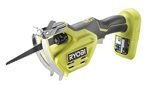 Ryobi Astsäge RY18PSA-0 (ohne Akku, 18 V, Sägeblattlänge 15 cm, max. Schnitttiefe 80 mm, kompaktes Design, inkl. 8-TPI Rohschnitt Klinge) RY18PSA