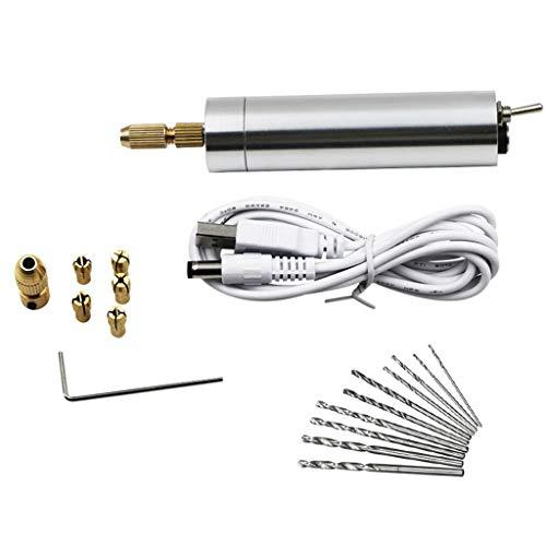 JOYKK draagbare mini-graveerstift oplaadbare elektrische handgraveerstift voor het polijsten en slijpen van draaigereedschappen - zilver