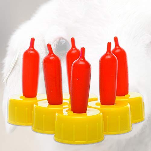 Livecity Silica Gel Pet Nippel, 10 Teile/Satz Hund Katze Schaf Lamm Getränkeflasche Nippel Schnuller Sauger Werkzeug Heimtierbedarf