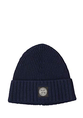 Stone Island Junior N03A6 Kids Beanie in Navy