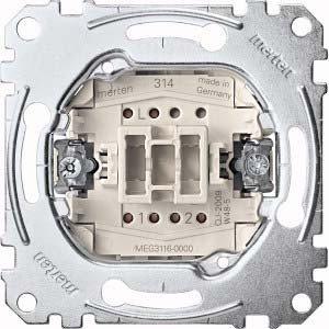 Merten Aus/Wechselschalter-Eins. MEG3116-0000 1-pol.10AX 250V AC Unterputz-Einsätze Installationsschalter 4042811144364 by