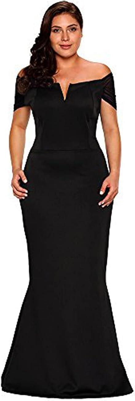 LALAGEN Women's Plus Size Off Shoulder Long Formal Party Dress Evening Gown