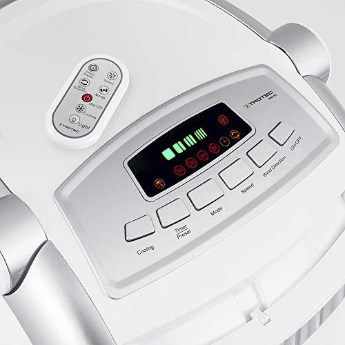 TROTEC PAE 25 Rafraîchisseur d'air/Ventilateur sur roulettes avec différents Modes de Fonctionnement et Fonction humidificateur (4 Niveaux de Puissance, 65W, télécommande, écran LED)