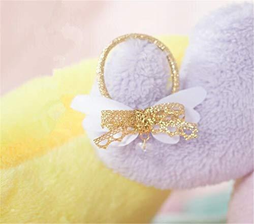 Meijin Vinatge - Colgante de cadena con diseño de lazo para el pelo, diseño de lazo de niña (color de círculo)