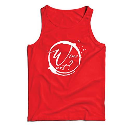 lepni.me Camisetas de Tirantes para Hombre Vino No Amante del Alcohol Ingenioso Cita de Broma de Beber (XX-Large Rojo Multicolor)