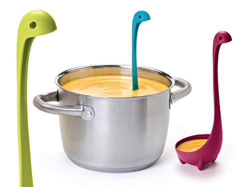 JATrade Suppenkelle Suppenlöffel Schöpflöffel Schöpfkelle Saucenlöffel Küche kreativer Küchenhelfer Löffel Geschenk für Frauen und Männer - Blau