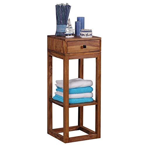 FineBuy Massiver Beistelltisch PATAN Sheesham Holz Massiv 90 x 35 x 35 cm | Telefontisch mit Schublade für Flur Anrichte | Moderne Konsole mit Ablage