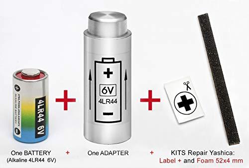 Adaptador + Pila para Yashica Electro 35 (G, GL, GS, GT, GSN, GTN), MG-1 y AX + Kit