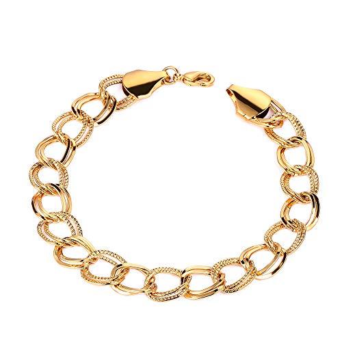 Männer Kette Armbänder Gold Farbe Und Kupfer Armreifen Für Frauen, Kuba Gp Kette & Link Armband Arabischen Schmuck Geschenke