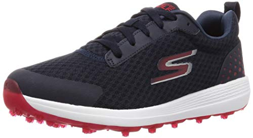 Skechers Herren Max Fairway 2 Spikeless Mesh Golfschuhe - Marine/Rot - UK 8
