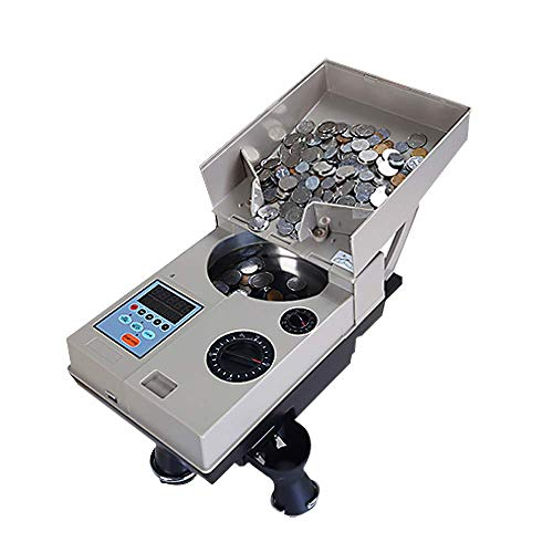 BAOSHISHAN Coin Sorting Machine Electric Coin Sorter Counter for Selecting and Counting The Required Coins 1500 Units/m…