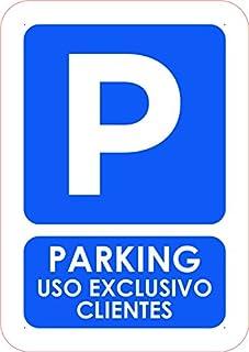 Oedim Pack 10 Señales PVC Parking Privado Uso Exclusivo Clientes | Tamaño A5 (14,80x21cm) Material PVC Resistente
