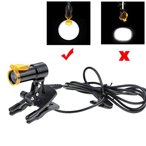 Eerste Dental 5W Draagbare LED Koplamp met Filter Plastic Clip-on Type, Vervangende Hoofd Lamp