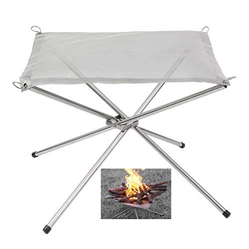FGSS Reproductor de Patio Camping de Interfaz de Bomberos Chimenea de Acero Inoxidable de Malla para el Exterior–Picnic Cartuchos de calefacción para Exteriores