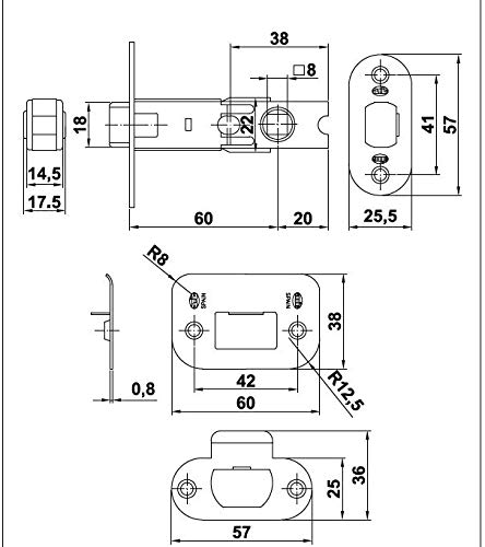 CAPORTE 9–60 Stahl Messing