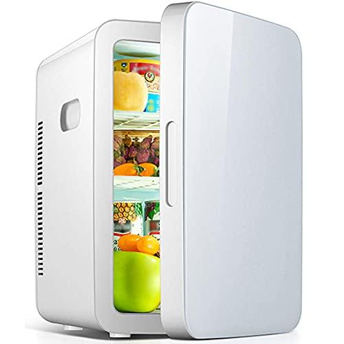Refrigerador de automóviles de gran capacidad 25L, mini refrigerador de doble uso para automóviles y hogares, aire acondicionado de viaje AC/DC, 12~220V-blanco a_25L