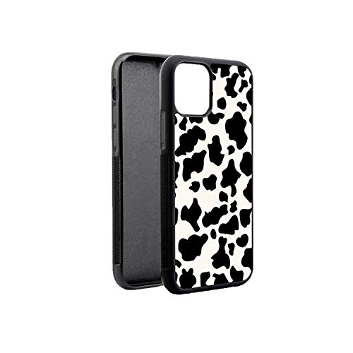 NDJqer Cow Skin Print Black Soft Edge Side Phone Cases for iPhone 11 Pro Max X 5S SE 6s 7 8 Plus XR XS MAX Cover Case-B7284-for iPhone 11