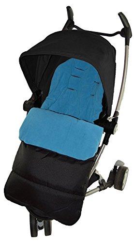 Fußsack/COSY TOES kompatibel mit Buggy Quinny Zapp Ocean Blau