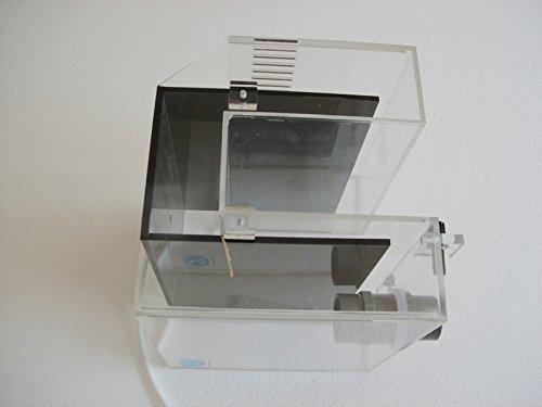 Aquarium Siphon Hang am Überlauf Box 2600 l/h Überlaufbox für Aquarien, Einlass-Überlau Überlauf Box Aufhängen Überlaufkastens Wasserfilter Überlaufbox Große Schwarze, Siphonüberlauffbox Acryl-Selbststart-Siphon-Überlaufbox für Aquarium-Aquarien