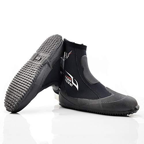 MASALING Botas de neopreno antideslizantes de 5 mm para buceo, para hombres y mujeres, para buceo, natación, surf, navegación y kayak, talla S (36-38)