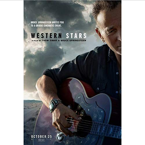 Zahuishile Art Poster Western Stars Movie Bruce Springsteen Thom Zimy Wall Fabric Canvas 40x60cm Without Frame
