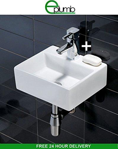 salina compatto–lavabo lavandino da parete quadrato 330x 290