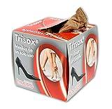 Tacco Trisox, Medias de Nylon de 20 Deniers para Pies, Calcetines Desechables para Pies 144 Unidades, Calcetines Higiénicos para Probar Zapatos, Fabricados en Alemania por Tacco (Unisize)