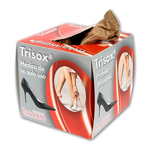Trisox by Tacco 20 Denier Nylon Voetkousen   Wegwerp Voetsokken 144 stks   Hygiënische Pop Sokken om te proberen op schoenen   Gemaakt in Duitsland door Tacco (Unisize)