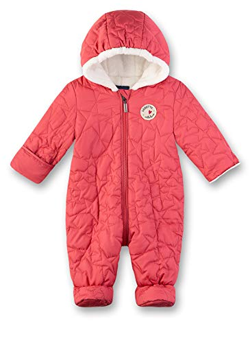 Sanetta Baby-Mädchen Outdooroverall Schneeanzug, Rot (Strawberry 3458), 74 (Herstellergröße: 074)