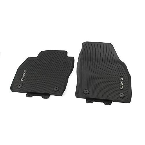 Skoda 658061502 Allwetterfußmatten 2X Gummimatten vorn Gummi Fußmatten schwarz, mit Kamiq Schriftzug