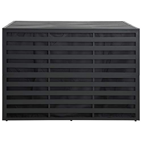 BIGTO Garden Storage Box Aluminium(Anthracite) 150 x 100 x 100 cm (W x D x H)