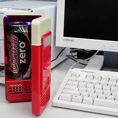 Simlific: mini-koelkast/kooktoestel, USB, voor warme of koude dranken, koffie of thee.