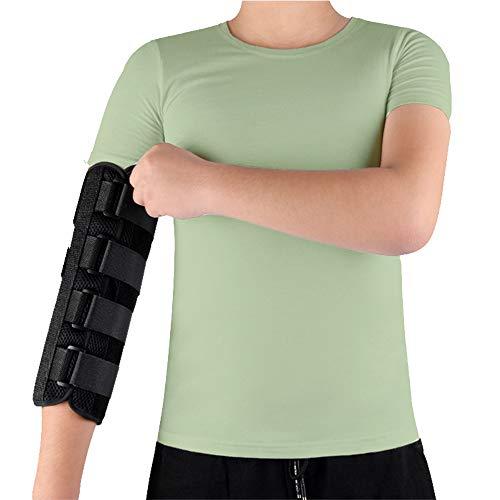 Elbow Splint Brace Ulnar Nerve Entrapment Cubital Tunnel for Sleeping Elbow Immobilizer Arm Brace Night Support for Pain Tennis Arthritis Elbow Restraint Wrap Arm Band (L)